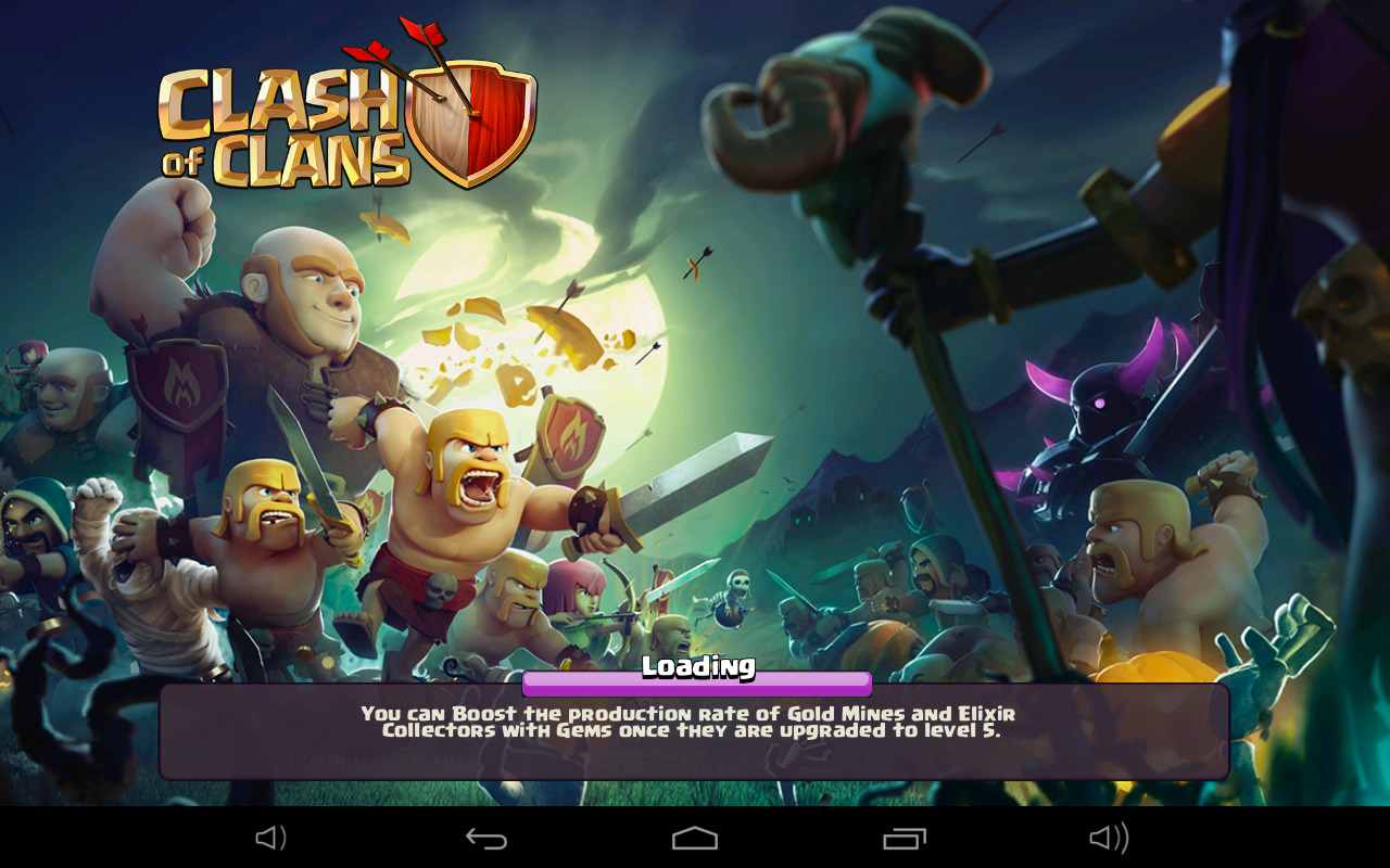 Clash of Clans Halloween Loading Screen
