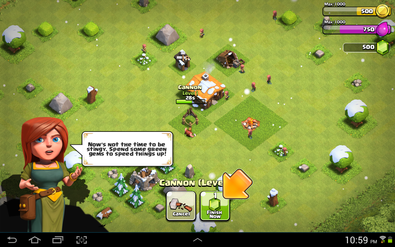 Clash of Clans Tutorial Screenshot
